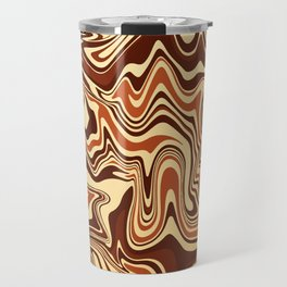 Brown Marble Travel Mug