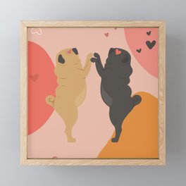 Valnetine's Pug Dance Framed Mini Art Print