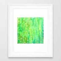 sprinkles Framed Art Prints featuring Sprinkles by Rosie Brown