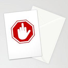 DAMAGED STOP SIGN Stationery Cards