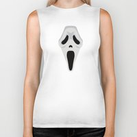 scream Biker Tanks featuring SCREAM by Alejandro de Antonio Fernández