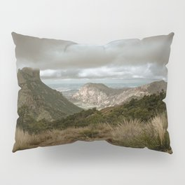 Big Bend Cloudy Mountaintop View - Lost Mine Trail - Landscape Photography Pillow Sham