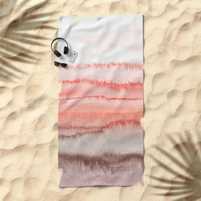 WITHIN THE TIDES CORAL DAWN Beach Towel