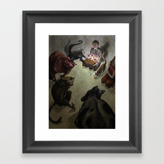 Deadly Viruses. Framed Art Print