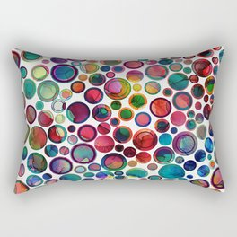 Dots on Painted Background 2 Rectangular Pillow