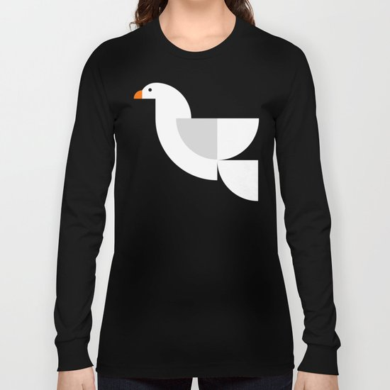 Geometric Dove Long Sleeve T-shirt