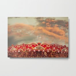 Wonderful Whirled Carousel Metal Print