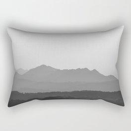 A Mountain Sunset Rectangular Pillow