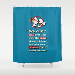 Einstein on Problem Solving Shower Curtain