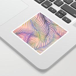 Palm Leaves Pattern - Purple, Peach, Blue Sticker
