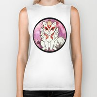 okami Biker Tanks featuring Amaterasu from Okami 02 by Jazmine Phillips