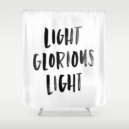 Light Glorious Light Shower Curtain
