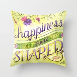 Shared Happiness Throw Pillow