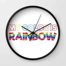 My Color Is Rainbow Wall Clock