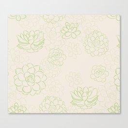 Succulents garden Canvas Print