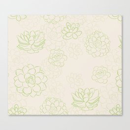 Succulents garden Canvas Print