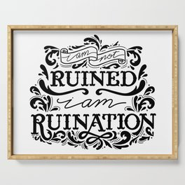 Grishaverse Quote Ruination BW Serving Tray