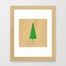 Vintage Christmas Tree  Framed Art Print