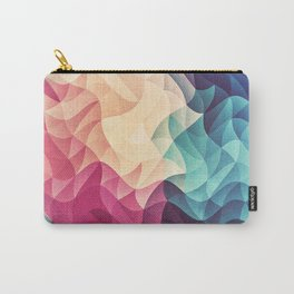 Geometry Triangle Wave Multicolor Mosaic Pattern - (HDR - Low Poly Art) Carry-All Pouch