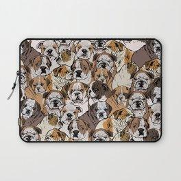 Social English Bulldog Laptop Sleeve