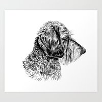 daschund Art Prints featuring Teckel by Silvia Mallofre