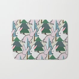 Bunnies and Trees 2 (Cute Buns) Bath Mat