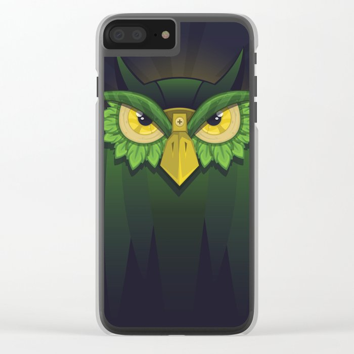 Royal Owl Clear iPhone Case