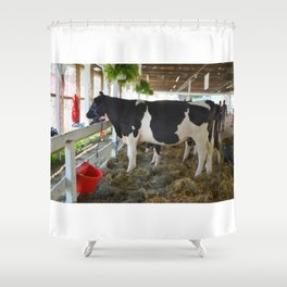 Black and white cow Shower Curtain