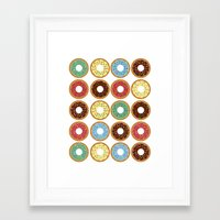 donuts Framed Art Prints featuring Donuts!! by Ron Trickett