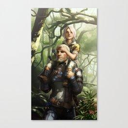 Geralt and Ciri Canvas Print