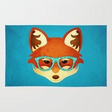 Hipster Fox: Azure Rug