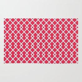 Amaranth Red Diamond Weave Pattern Rug