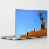 morocco Laptop & iPad Skins featuring Morocco Surfers by suzyoconnor