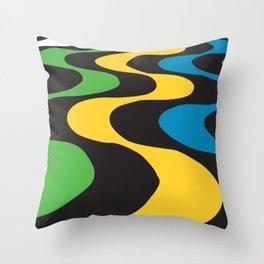 Art Copacabana sidewalk Throw Pillow