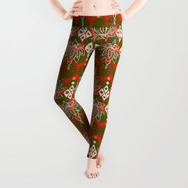 lotus diamond festive Leggings