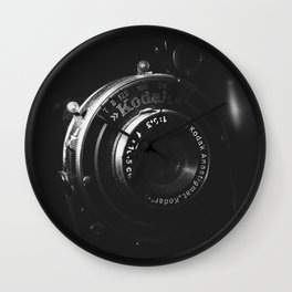 A Close-up of a Vintage Kodak Camera | Black & White Photography | Product Photography | Photo Print | Fine Art Print Wall Clock