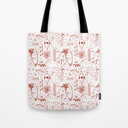 Doodle Christmas pattern Tote Bag