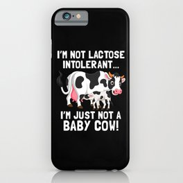 Dairy Free Dairy Allergy Awareness Baby Cow iPhone Case