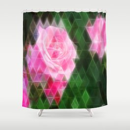 Pink Roses in Anzures 1 Art Triangles 2 Shower Curtain