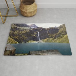 The Lake of Oô, Luchon, Pyrenees, France Rug