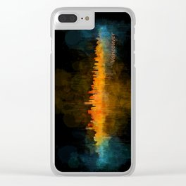 Vancouver Canada City Skyline Hq v04 dark Clear iPhone Case