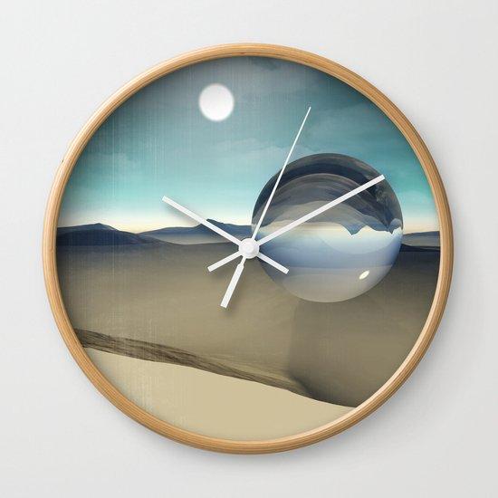 desert sphere void Wall Clock