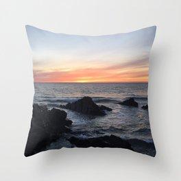 Sunset over Putsborough Throw Pillow