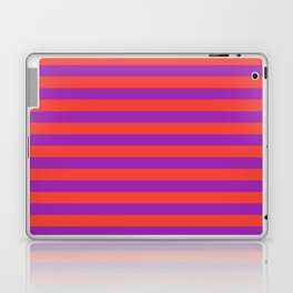 Even Horizontal Stripes, Red and Purple, M Laptop & iPad Skin