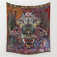 totem Wall Tapestries featuring Totem by Ray Stephenson