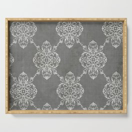 Vintage Damask - Charcoal Serving Tray