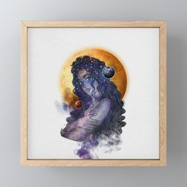 The queen of universe. Framed Mini Art Print