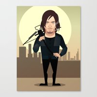 daryl dixon Canvas Prints featuring DARYL DIXON by Vector Volt