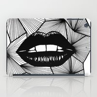 lips iPad Cases featuring Lips by Aurelie