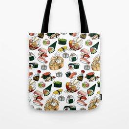 Sushi White Tote Bag
